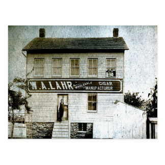 Carte Postale Fabricant de cigare de W.A. Lahr Wholesale circa