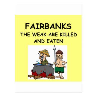 CARTE POSTALE FAIRBANKS