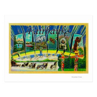 Carte Postale Fairbanks, Alaska - grandes scènes de lettre