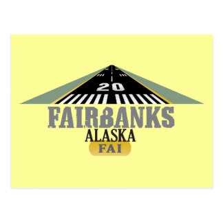 Carte Postale Fairbanks Alaska - piste d'aéroport