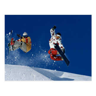 Carte Postale Faire du surf des neiges 8
