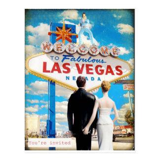 Carte Postale Faire-part de mariage de Las Vegas