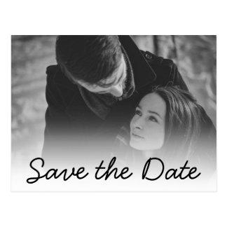 Carte Postale Faire-part de mariage doux de coutume de la date |