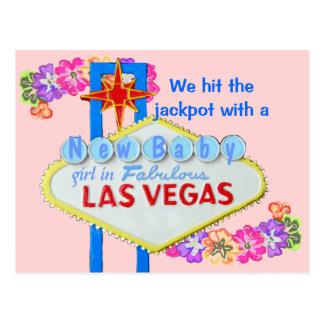Carte Postale Faire-part de naissance Las Vegas de bébé