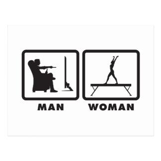 Carte Postale Faisceau d'équilibre gymnastique