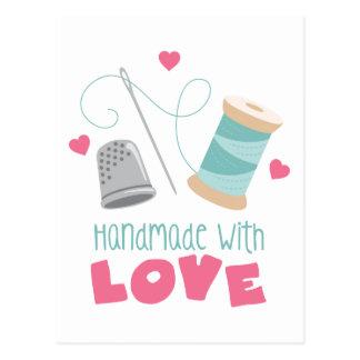 Carte Postale Fait main avec amour