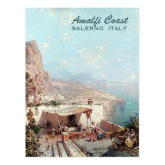 Carte postale faite sur commande d'art d'Amalfi