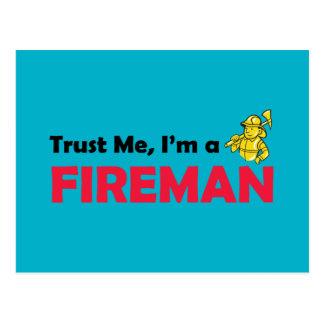 Carte Postale Faites confiance que je je suis un pompier