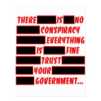 Carte Postale Faites confiance que votre gouvernement tout est