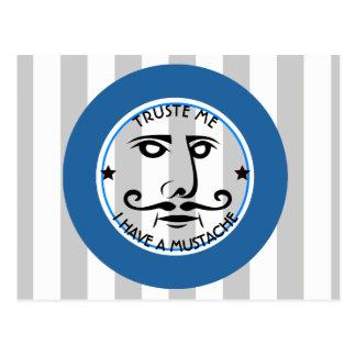 Carte Postale Faites- confiancemoi, j'ont une moustache