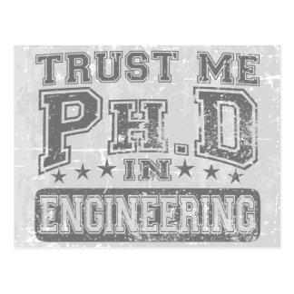 Carte Postale Faites- confiancemoi Ph.D dans l'ingénierie