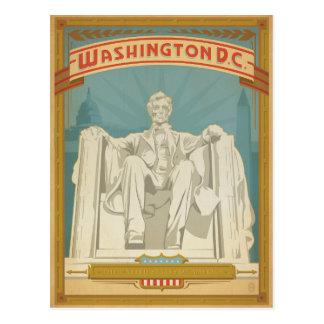 Carte Postale Faites gagner la date   Washington, C.C - Abe