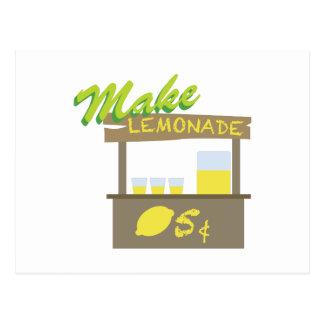 Carte Postale Faites la limonade