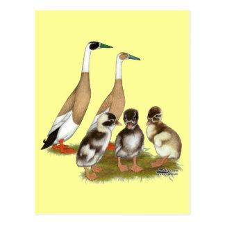 Carte Postale Famille écrite au crayon de canard de coureur
