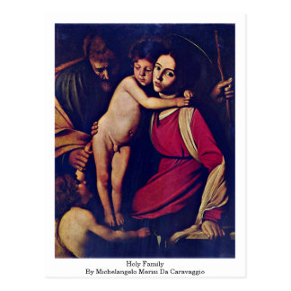 Carte Postale Famille sainte par Michaël Angelo Merisi DA