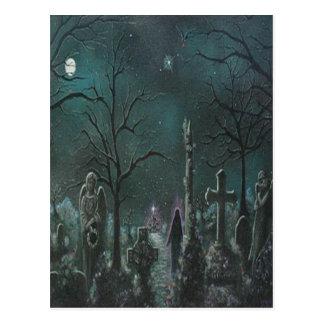 Carte postale fantôme de cimetière