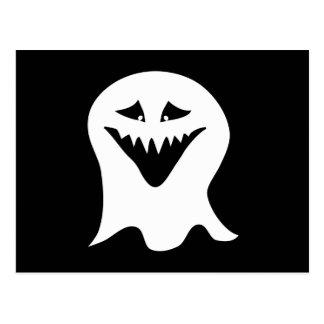 Carte Postale Fantôme de goule. Noir et blanc.