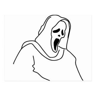 Carte Postale Fantôme effrayant