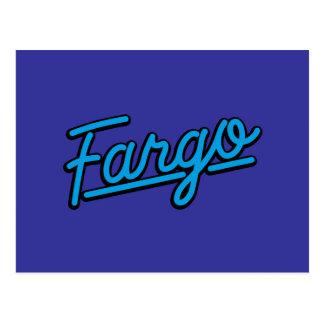 Carte Postale Fargo dans cyan