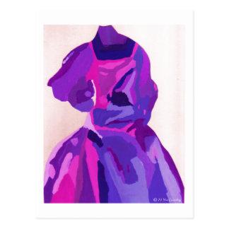 Carte Postale Fashionista de diva dans le bleu