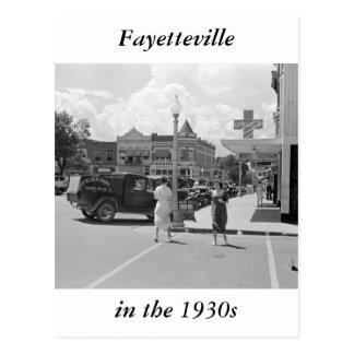 Carte Postale Fayetteville, Arkansas, les années 1930