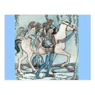 Carte Postale Féeries à cheval