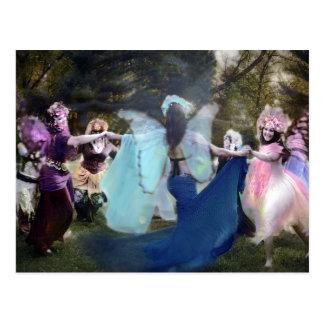 Carte Postale Féeries dansant par Cheryl loyalement