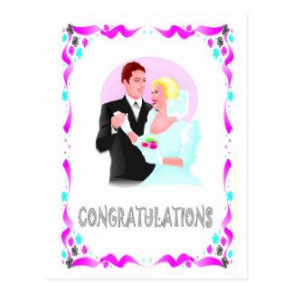 Carte Postale Félicitations - couples de mariage