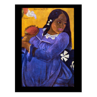 Carte Postale Femme avec des impressionnistes de Mango'_
