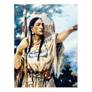 Carte Postale femme indienne de squaw