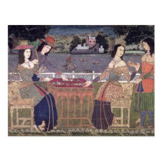 Carte Postale Femmes portugaises mangeant un repas, Goa
