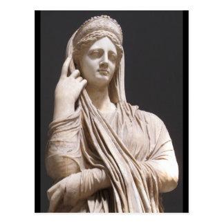 Carte Postale Femmes romaines impériales - statue