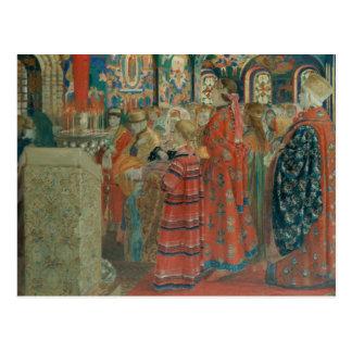 Carte Postale Femmes russes du 17ème siècle à l'église