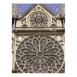 Carte Postale Fenêtre rose du sud en cathédrale de Notre Dame