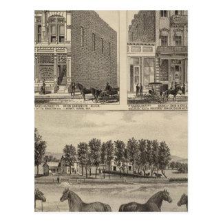 Carte Postale Ferme, Marion, et Topeka de vallée de Kaw, le