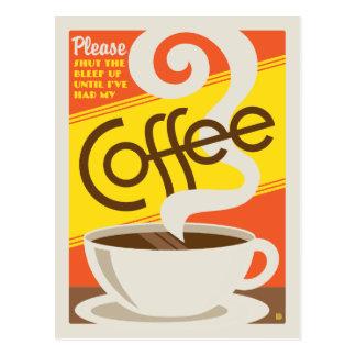 Carte Postale Fermez le café