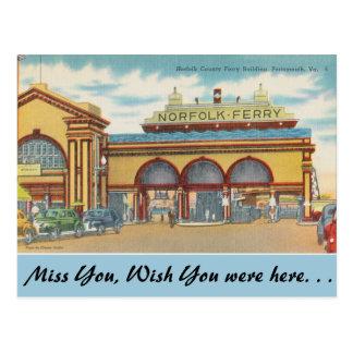 Carte Postale Ferry de la Virginie, Norfolk, Portsmouth