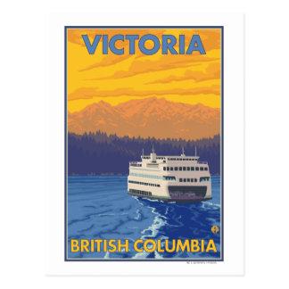 Carte Postale Ferry et montagnes - Victoria, AVANT JÉSUS CHRIST