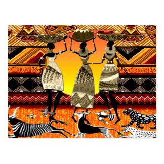 Carte Postale Festin africain