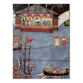 Carte Postale Festival nautique avant sultan Ahmed III