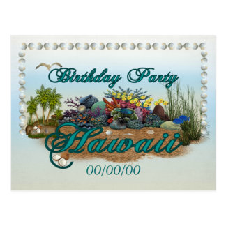 Carte Postale Fête d'anniversaire d'Hawaï