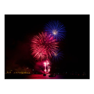 Carte Postale Feux d'artifice