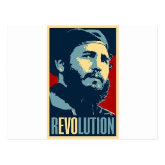 Carte Postale Fidel Castro - président cubain de révolution du