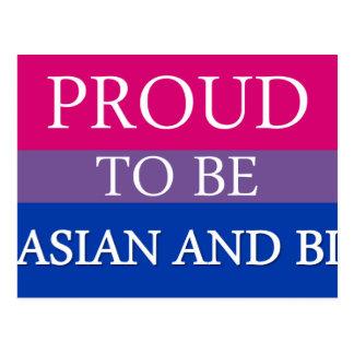 Carte Postale Fier d'être asiatique et Bi