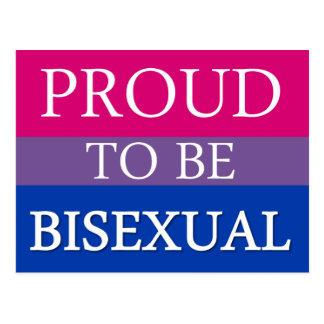 Carte Postale Fier d'être bisexuel