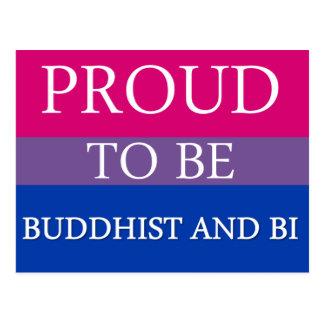 Carte Postale Fier d'être bouddhiste et Bi
