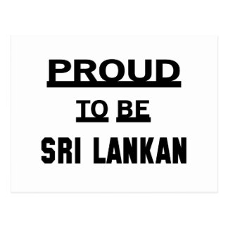 Carte Postale Fier d'être sri-lankais