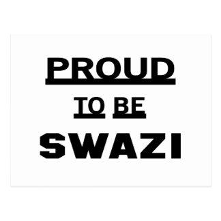 Carte Postale Fier d'être Swazi