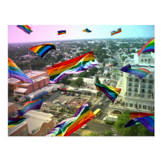 Carte Postale Fierté d'arc-en-ciel au-dessus de Santa Rosa
