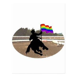 Carte Postale Fierté de cowboy de GLBT